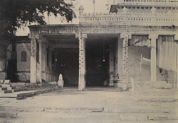 Wallajah's Tomb in the Nuttur Auleah Musjid [Close view of entrance to Nathar Shah's Tomb, Tiruchchirappalli]